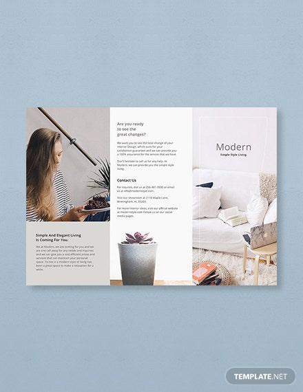 Free Simple Modern Brochure Template 1