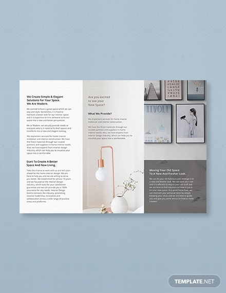 simple brochure template for word