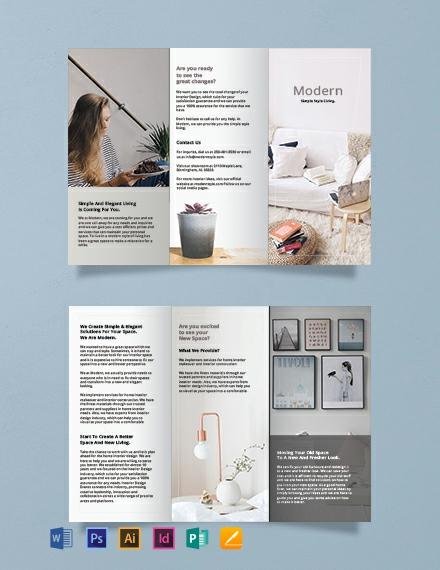 free simple modern brochure template