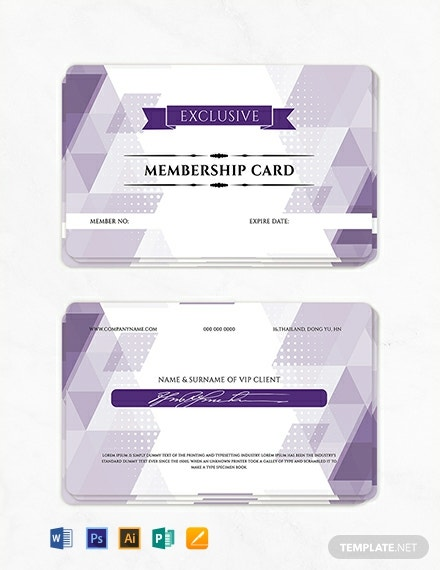 graphic relating to Printable Membership Cards called 14+ Subscription Card Templates within Microsoft Publisher