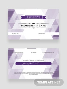 Free VIP Member Card Template