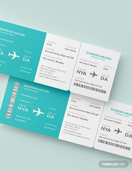 Sample Simple Airline Ticket