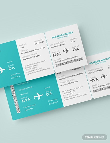 Simple Airline Ticket Download
