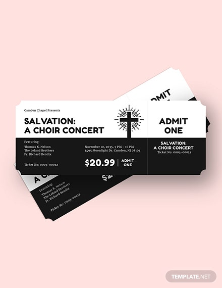 Simple Church Ticket Download