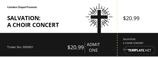 Simple Church Ticket Template