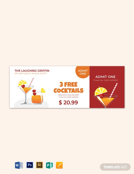 Simple Drink Ticket Template