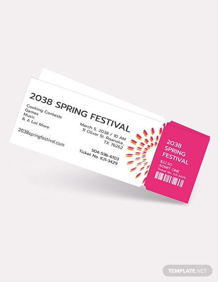 Simple Festival Ticket Download