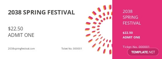 Simple Festival Ticket Template