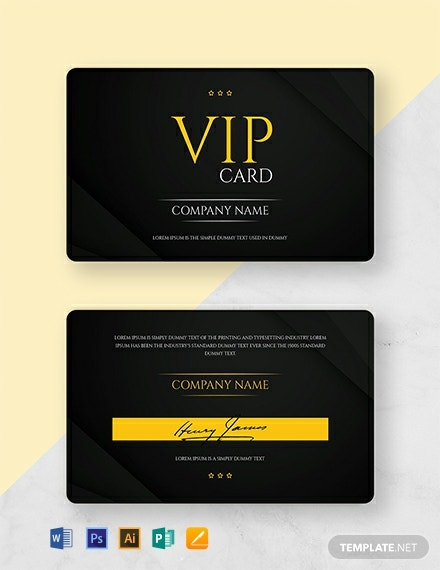 Free VIP Membership Card Template