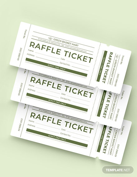 Sample Simple Raffle Ticket