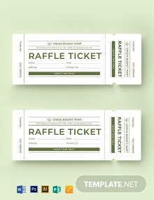 Simple Raffle Ticket Template