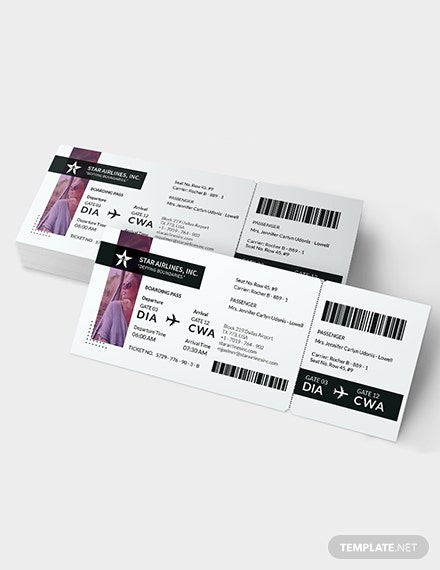 Sample Simple Travel Ticket