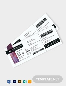 Simple Travel Ticket Template