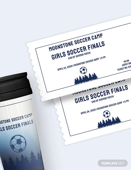 Sample Soccer Camp Ticket