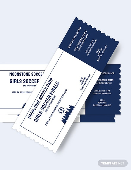 Soccer Camp Ticket Download