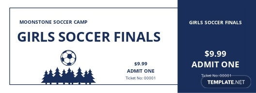 Soccer Camp Ticket Template