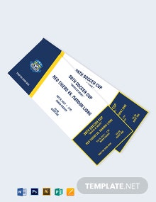 Soccer Event Ticket Template
