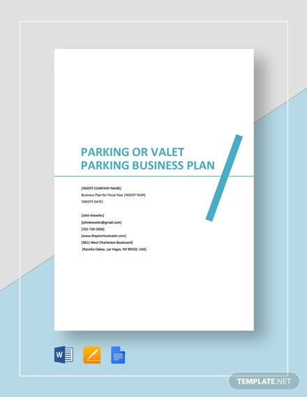 Parking or Valet Parking Business Plan Template