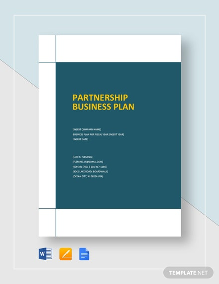 Partnership Business Plan Template