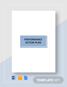 Performance Action Plan Template