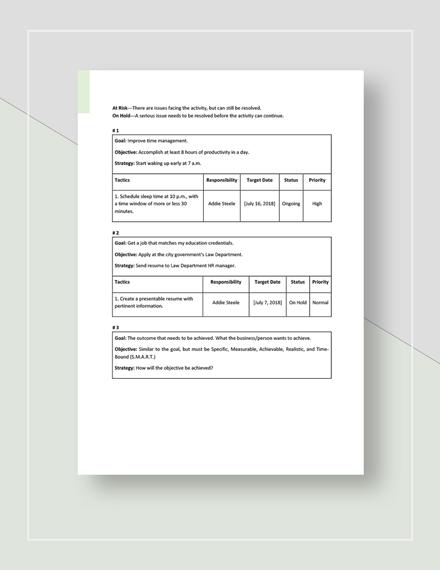 Personal Strategic Plan Download