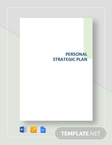 Personal Strategic Plan Template