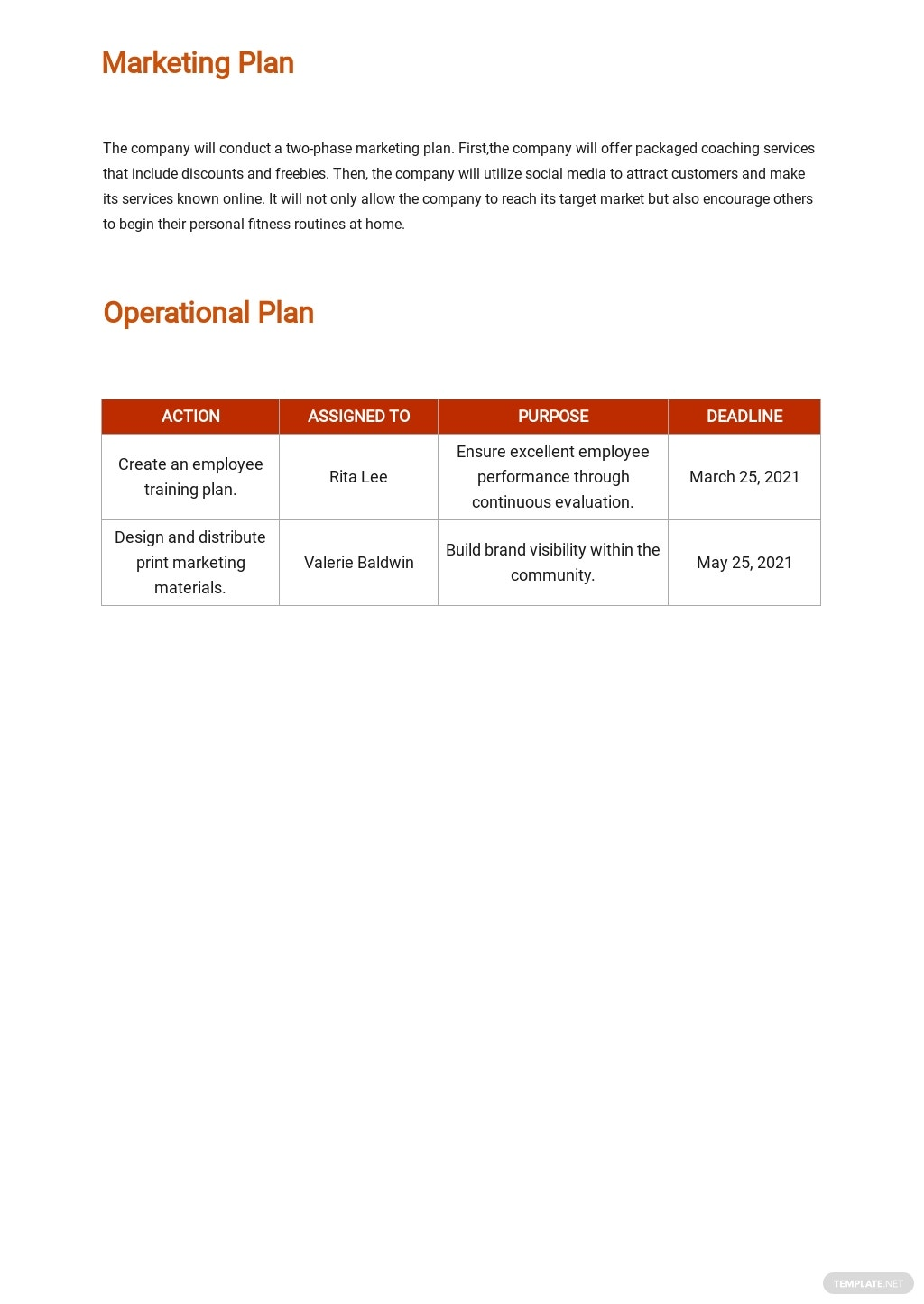 Personal Trainer Business Plan Template 4.jpe