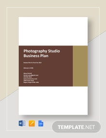 Photography Studio Business Plan Template