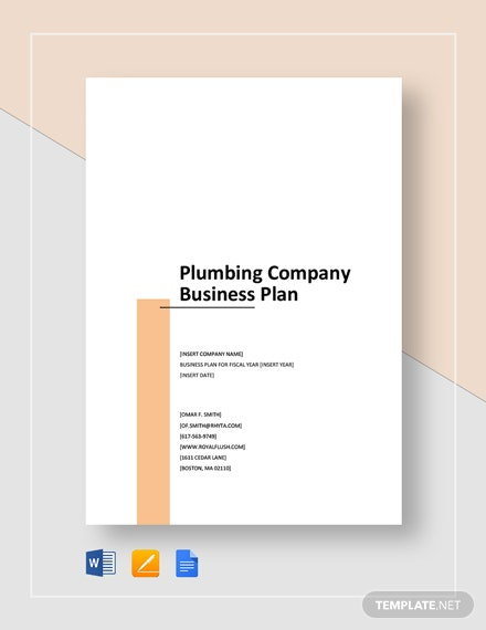 Plumbing Company Business Plan Template