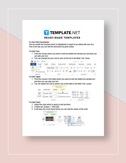 Printable Strategic Plan Instructions