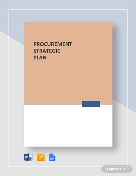 Procurement Strategic Plan Template
