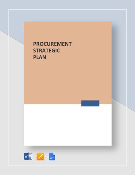 Procurement Strategic Plan Template
