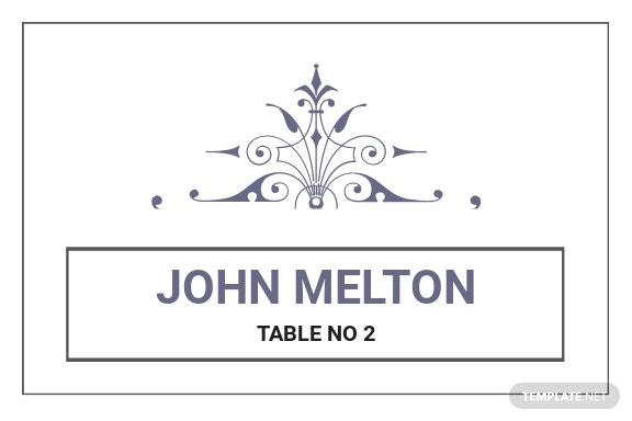 Wedding Graphic Design Name Card Template