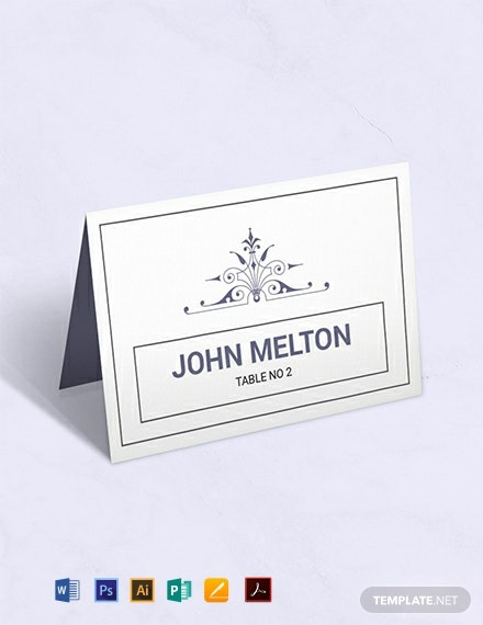 Free Wedding Graphic Design Name Card Template