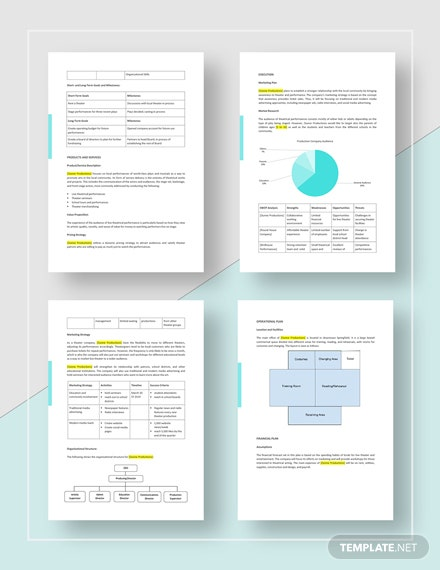 Production Company Business Plan Download