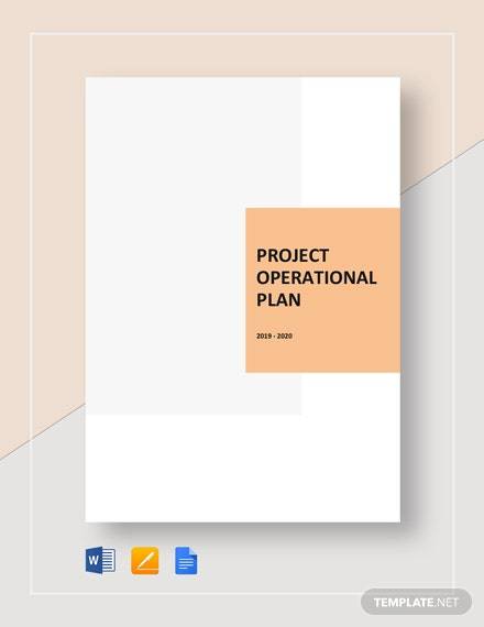 Project Operational Plan Template