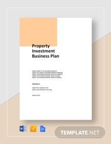 Property Investment Business Plan Template