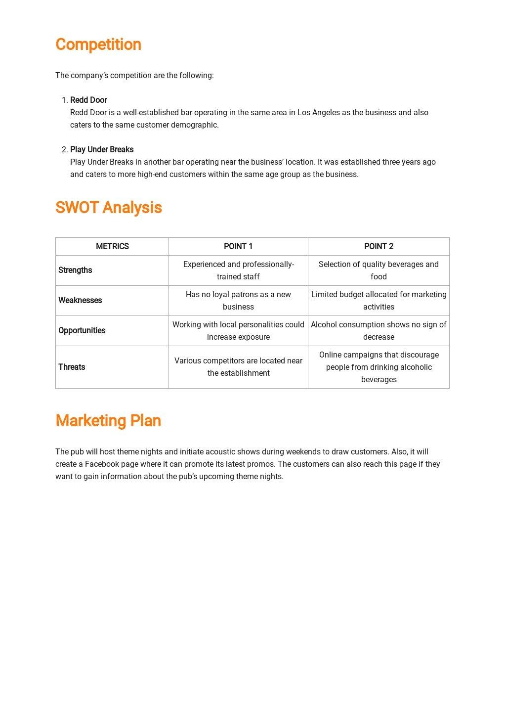 Pub Business Plan Template 2.jpe