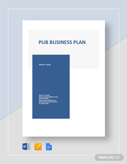 Pub Business Plan Template