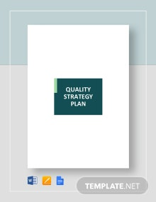 Quality Strategy Plan Template