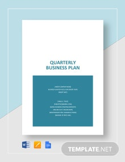 Quarterly Business Plan Template