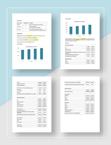 Simple Quarterly Business Plan