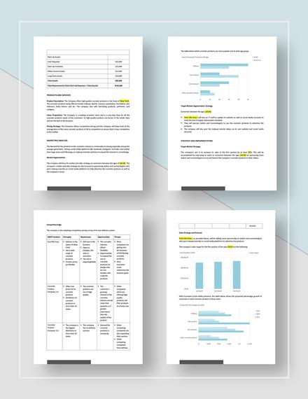 Simple Quarterly Sales Plan