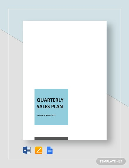 Quarterly Sales Plan Template Word Google Docs Apple Pages