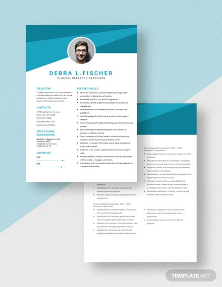 Clinical Research Associate Resume Download