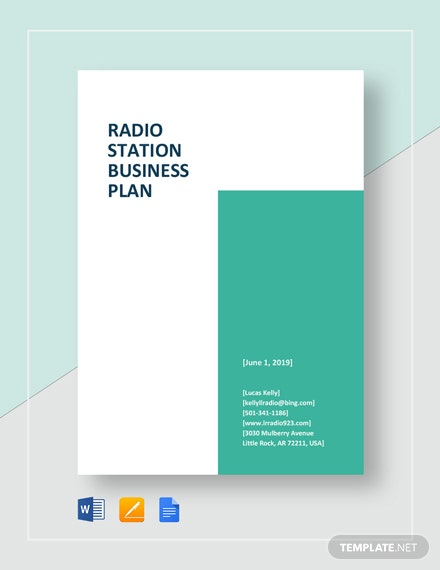 Radio Station Business Plan Template