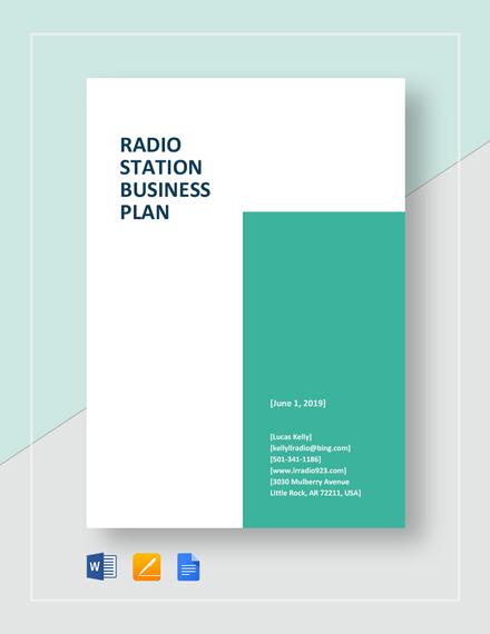Radio Station Business Plan Template