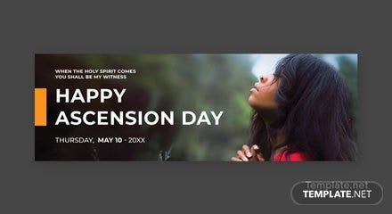Free Ascension Day Twitter Header Cover Template