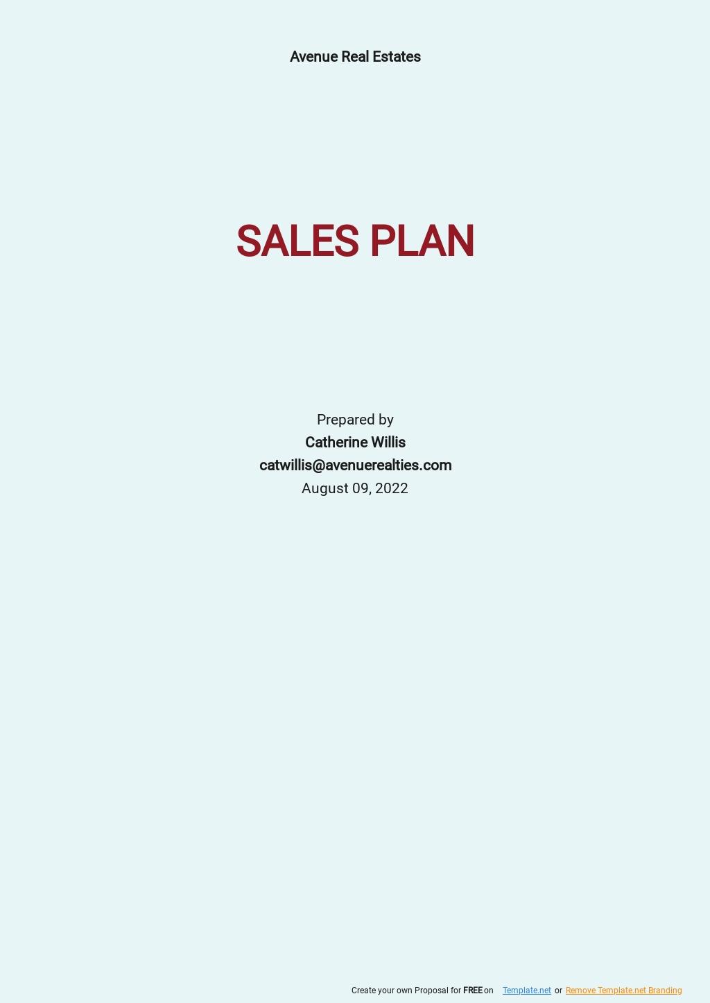 Real Estate Sales Plan Template.jpe