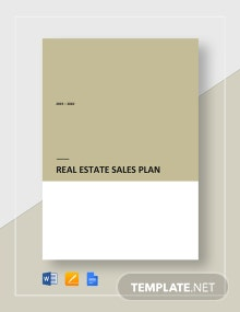 Real Estate Sales Plan Template